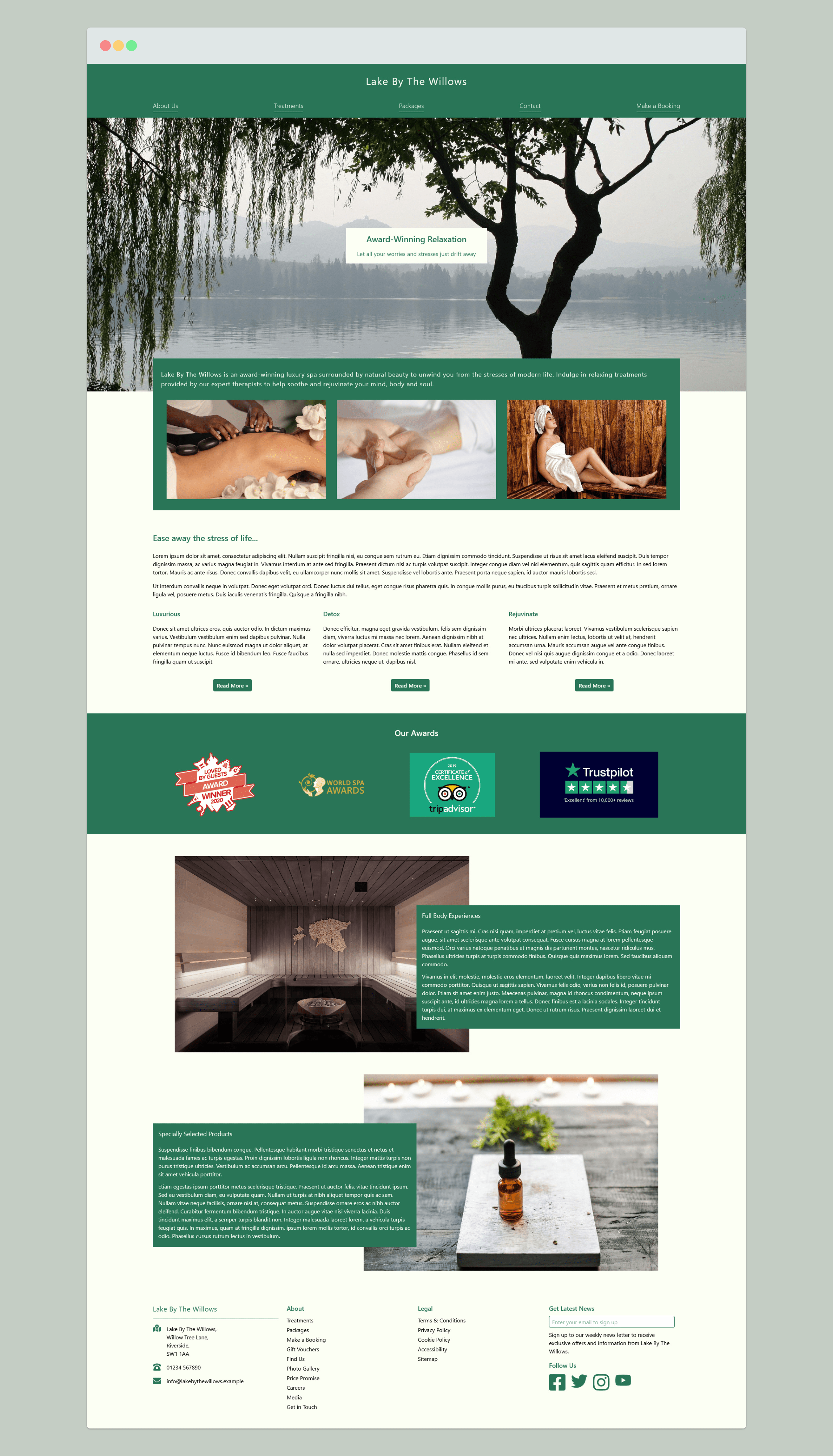 Lake By The Willows Spa Website